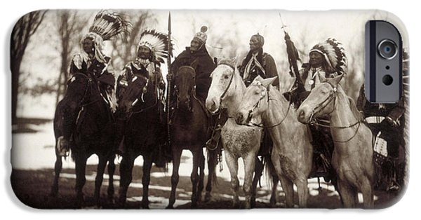 The Horse iPhone Cases - Native American Chiefs iPhone Case by Granger
