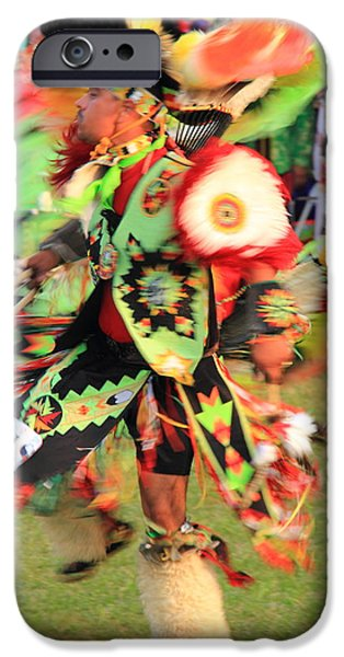 Mashpee iPhone Cases - Native American Dancer iPhone Case by Roupen  Baker