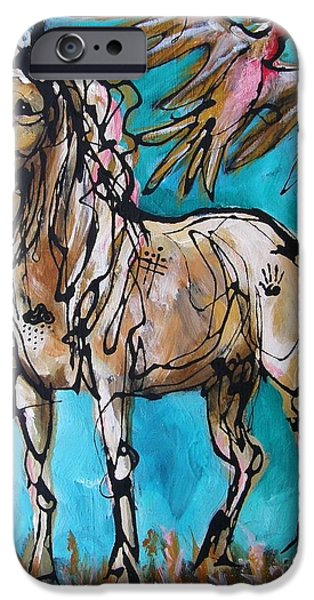 Paso Fino Stallion iPhone Cases - Native Rain Flyer iPhone Case by Jonelle T McCoy