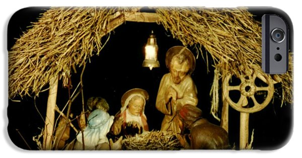Scene Sculptures iPhone Cases - Nativity - on request iPhone Case by Sorin Apostolescu
