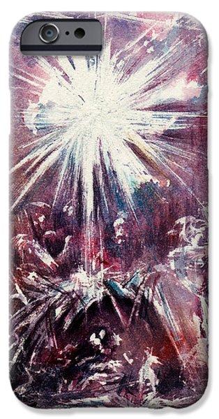 Nativity 1 iPhone Case by Rachel Christine Nowicki