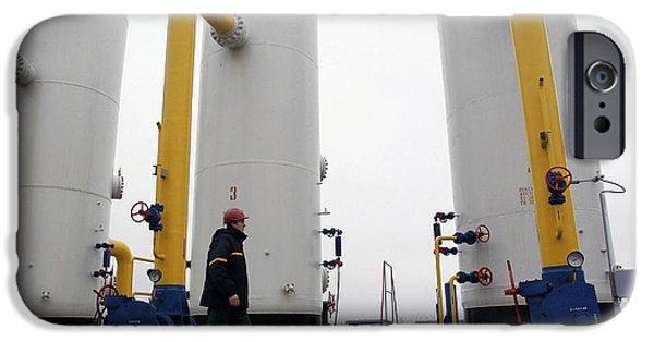 Compressor iPhone Cases - Natural Gas Compressor Station iPhone Case by Ria Novosti