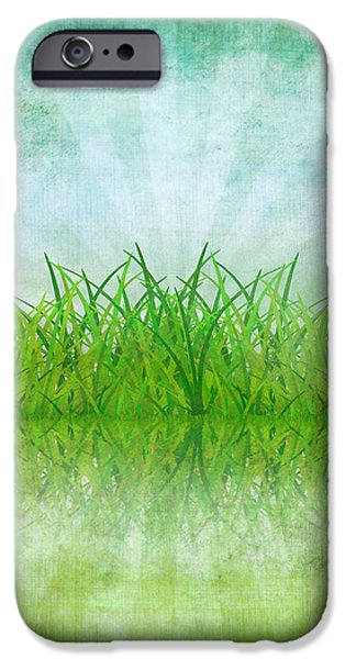 nature and grass on paper iPhone Case by Setsiri Silapasuwanchai