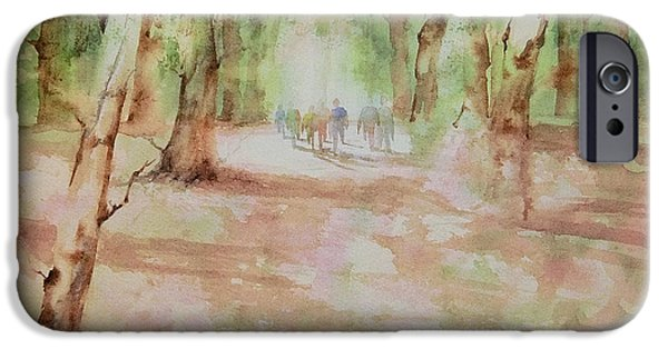 Nature Center Paintings iPhone Cases - Nature at the Nature Center iPhone Case by Debbie  Lewis