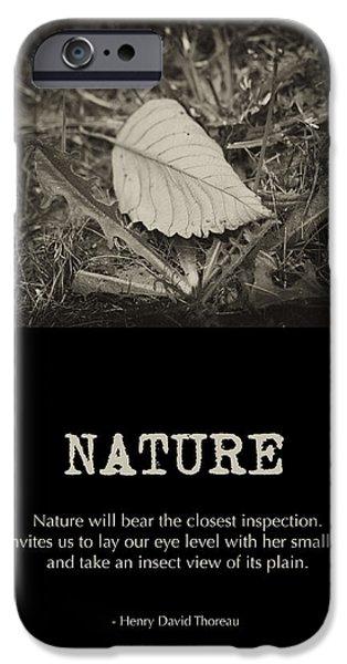 Thoreau iPhone Cases - Nature iPhone Case by Bonnie Bruno