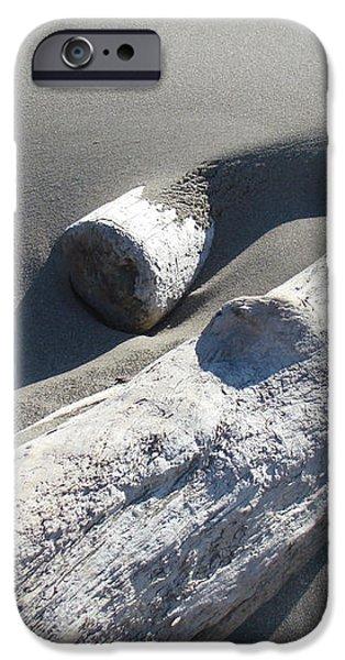 Nature Coastal art prints Driftwood Sand Dunes iPhone Case by Baslee Troutman