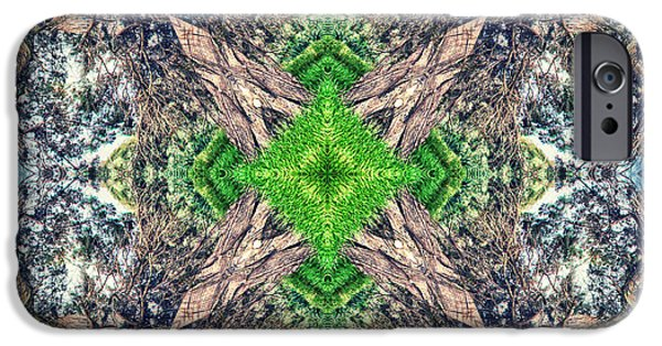 Abstract Flowers Images iPhone Cases - Nature Mandala iPhone Case by Stylianos Kleanthous
