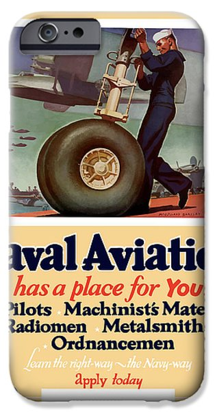 War iPhone Cases - Naval Aviation Has A Place For You iPhone Case by War Is Hell Store