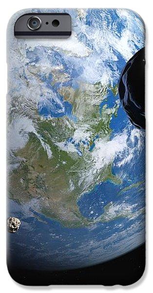 Near-earth Asteroids, Artwork iPhone Case by Detlev Van Ravenswaay