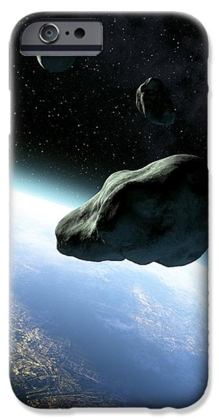 Near-earth Objects, Artwork iPhone Case by Take 27 Ltd