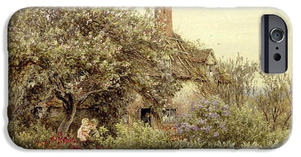 Country iPhone Cases - Near Hambledon iPhone Case by Helen Allingham