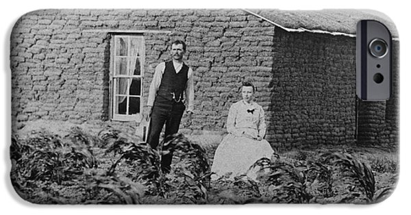 Nineteenth iPhone Cases - Nebraskan Sod House, C. 1880 iPhone Case by Photo Researchers