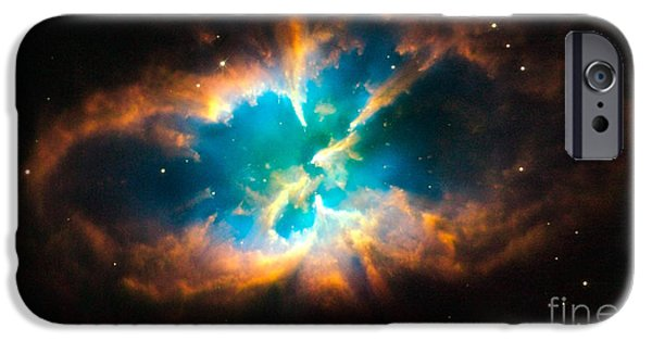 Hubble Telescope Images iPhone Cases - Nebula Ngc 2818 iPhone Case by NASA  European Space Agency