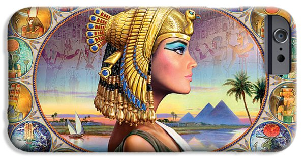 Authority iPhone Cases - Nefertari Variant 3 iPhone Case by Andrew Farley