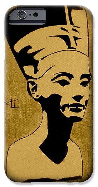 Nefertiti Egyptian Queen iPhone Case by Georgeta  Blanaru