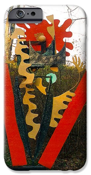 Line Sculptures iPhone Cases - Soul Breath Life iPhone Case by Al Goldfarb