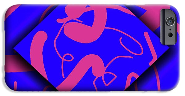 Abstract Digital iPhone Cases - Neon Out of Bounds iPhone Case by Carolyn Marshall