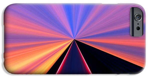 Diffusion iPhone Cases - Neon Pinnacle iPhone Case by Will Borden