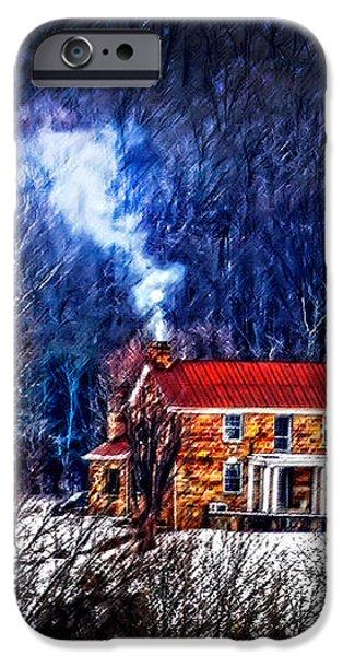 Nestled in for the winter iPhone Case by Randall Branham