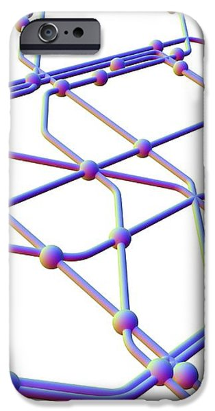 Network Diagram iPhone Case by Pasieka