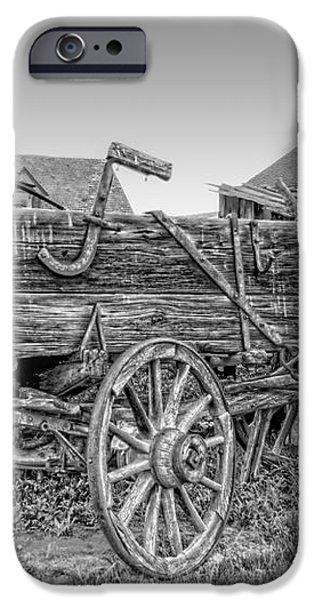 Nevada City Montana Freight Wagon iPhone Case by Daniel Hagerman