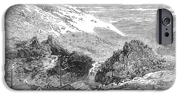 Lodes iPhone Cases - Nevada: Silver Mines, 1862 iPhone Case by Granger