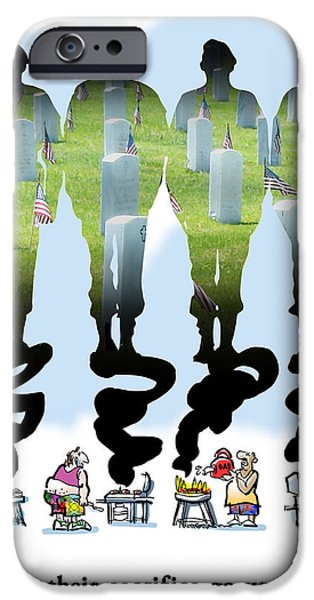 Never Forget iPhone Case by Mark Armstrong