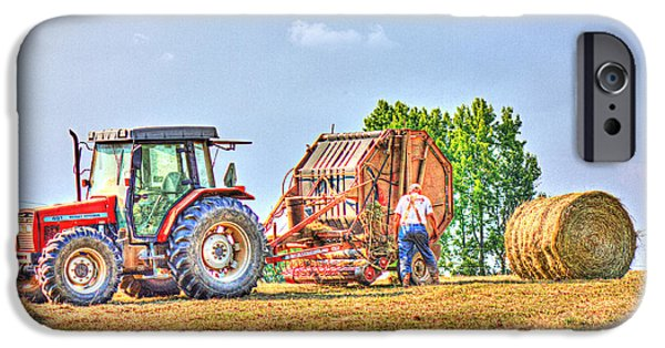Agricultural iPhone Cases - New Bale iPhone Case by Barry Jones