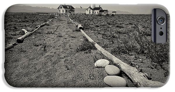 Spit iPhone Cases - New Dungeness Lighthouse iPhone Case by Dan Mihai