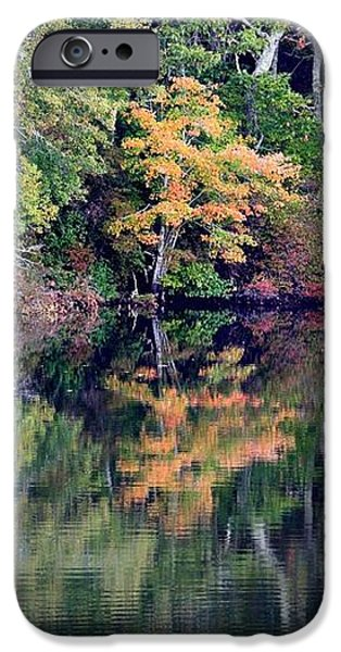 New England Fall Reflection iPhone Case by Carol Groenen