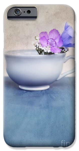 Stillife iPhone Cases - New Life For An Old Coffee Cup iPhone Case by Priska Wettstein