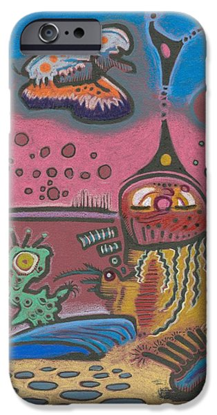 Moonscape Drawings iPhone Cases - New Martain Vision iPhone Case by Ralf Schulze