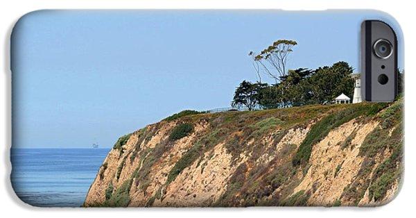 Lightstations iPhone Cases - New Santa Barbara Lighthouse - Santa Barbara CA iPhone Case by Christine Till