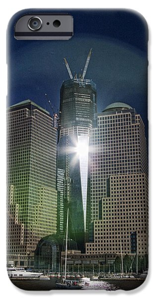 Interface iPhone Cases - New World Trade Center iPhone Case by David Smith