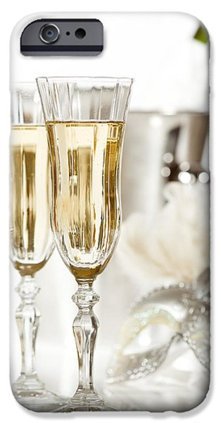 Ice Wine iPhone Cases - New Year Champagne iPhone Case by Amanda And Christopher Elwell