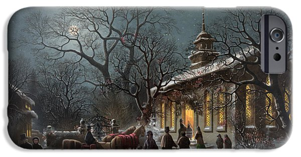 1876 Paintings iPhone Cases - NEW YEARS EVE, c1876 iPhone Case by Granger