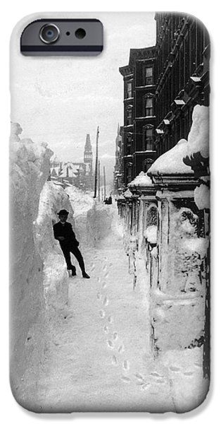 NEW YORK: BLIZZARD OF 1888 iPhone Case by Granger