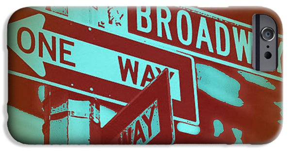 Capital iPhone Cases - New York Broadway Sign iPhone Case by Naxart Studio