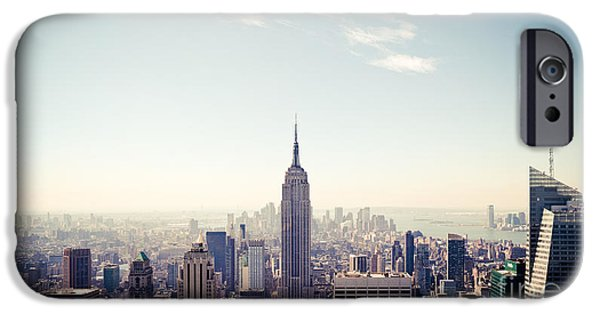 Empire State iPhone Cases - New York City - Empire State Building Panorama iPhone Case by Thomas Richter