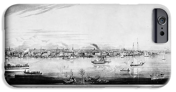 1840 iPhone Cases - New York City, 1840 iPhone Case by Granger