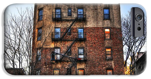 East Village iPhone Cases - New York City Apartments iPhone Case by Randy Aveille