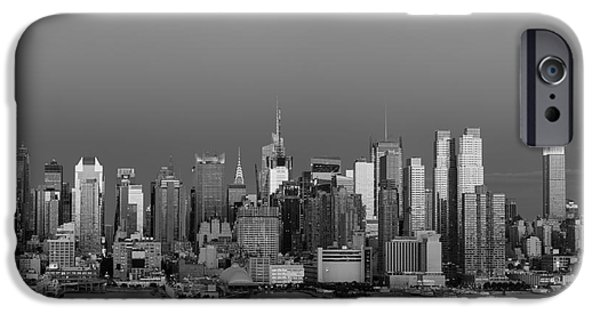 Bank Of America iPhone Cases - New York City Moonrise II iPhone Case by Clarence Holmes