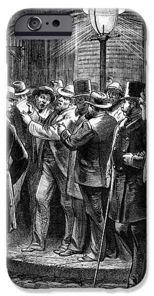NEW YORK: ELECTION, 1876 iPhone Case by Granger