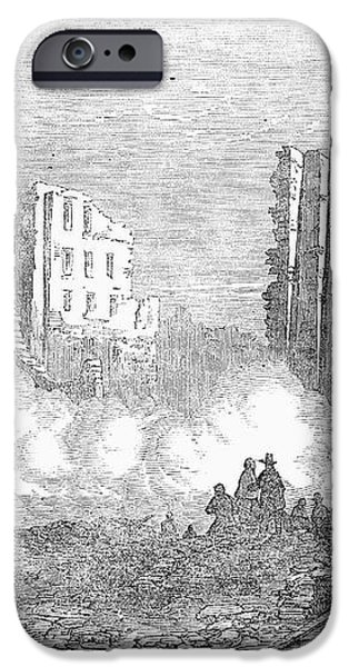 NEW YORK: FIRE, 1853 iPhone Case by Granger