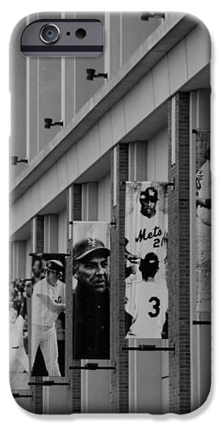 NEW YORK METS of OLD  in BLACK AND WHITE iPhone Case by ROB HANS