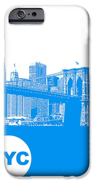 Business Digital Art iPhone Cases - New York Poster iPhone Case by Naxart Studio