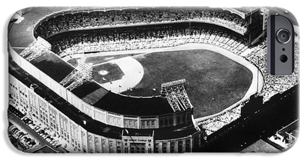 Aerial View iPhone Cases - New York: Yankee Stadium iPhone Case by Granger