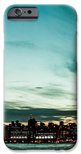 New Yorks skyline at night ice 1 iPhone Case by Hannes Cmarits