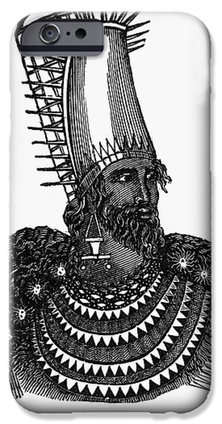 Breastplate iPhone Cases - New Zealand: Maori Priest iPhone Case by Granger