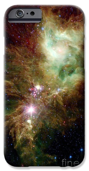 Newborn Stars In The Christmas Tree iPhone Case by Stocktrek Images